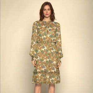 New Walter Baker Yaffa Floral Print A-line Dress